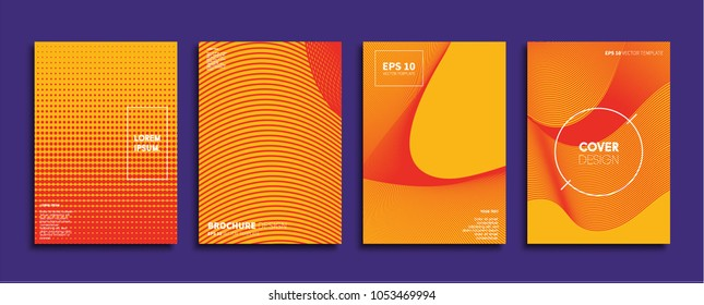 Vector cover designs. Future Poster template. Smartphone modern background set. - Shutterstock ID 1053469994