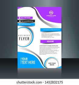 vector of cover flyer design template