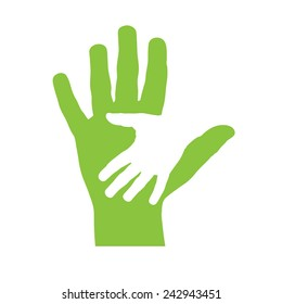 Vector cover two hands