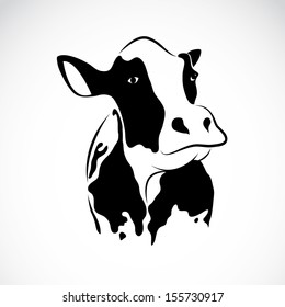 Vector of a cow design on white background, Animal Farm. Easy editable layered vector illustration.