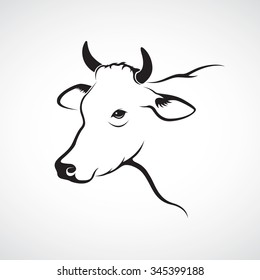 Vector of cow on white background. Animal Farm. Vector illustration.
