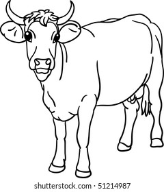 Cow Outline Drawing Stock Vectors, Images & Vector Art
