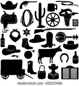 Vector Cowboy Pictogram