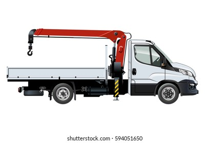 white realistic delivery cargo truck lorry stock vector royalty