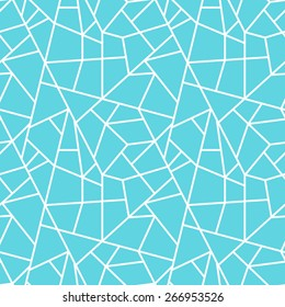 Vector creative abstract seamless pattern geometric pattern of white lines on the azure background