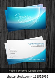 vector creative business card template set