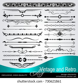 Vector Creative Design Elements, Luxury Vintage Ornaments , Dividers and borders for design