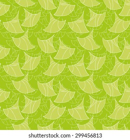 Vector creative hand-drawn abstract seamless pattern in white, yellow-green and lime colors