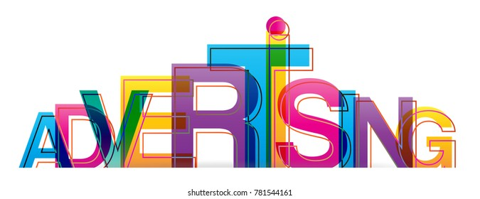 Vector creative illustration of advertising word