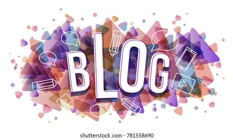 Vector creative illustration of blog word
