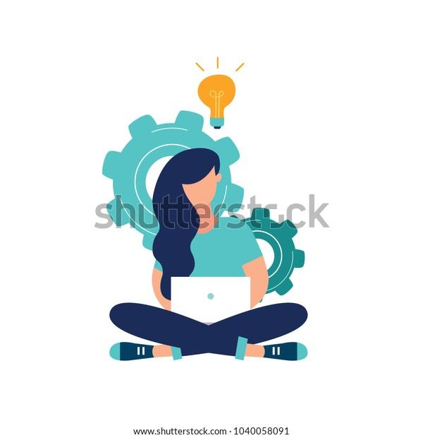 Vektorkreative Illustration von Business-Grafiken, das Unternehmen beschäftigt sich mit der gemeinsamen Konstruktion von Spaltengraphen, dem Aufstieg der Karriere zum Erfolg, flache Farbsymbole, Geschäftsanalyse