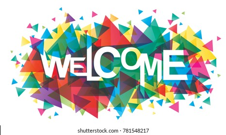 Vector creative illustration of welcome word
