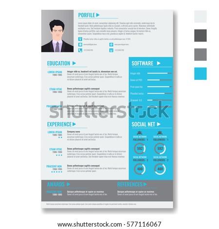 Vector Creative Minimalist Cv Resume Template Stock Vector Royalty