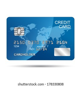 Vector Credit Card design template isolated on a white background
