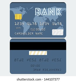 Vector credit card in 'flat' style