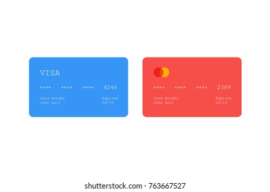 Vector credit card icon. Flat credit card icon. Flat design vector illustration concept for web banner,web and mobile application. Credit card icon graphic. Vector icon isolated on gradient background