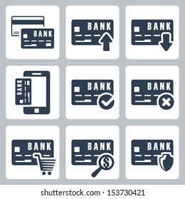 Vector credit card icons set