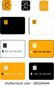 Vector credit cards and chips