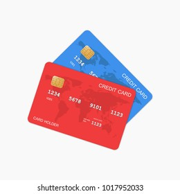 Vector Credit Cards isolated