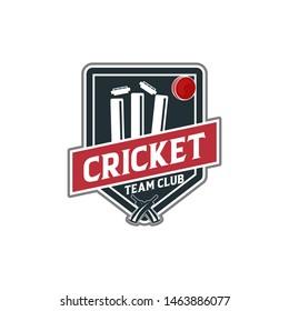 Vector - Cricket Sport Vector Logo Silhouette Design Template