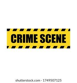 Vector Crime Scene Yellow Police Line Tape