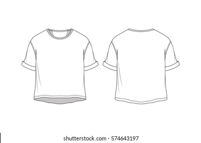 Vector crop basic t shirt