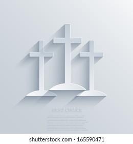 Vector cross background. Eps10