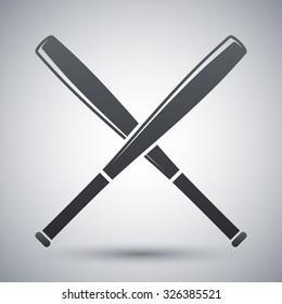Vector crossed baseball bats icon