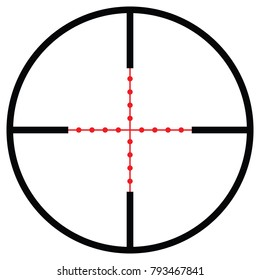 Vector crosshair with red sight.