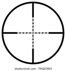 Vector crosshair with sight