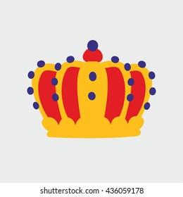 Vector crown illustration on grey background