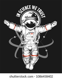 Vector Crucified Astronaut