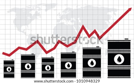 Vector Crude Oil Price Financial Chart Stock Vector Royalty Free