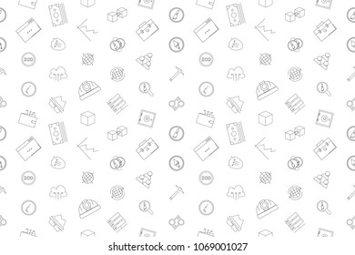 Vector cryptocurrency pattern. Criptocurrency seamless background
