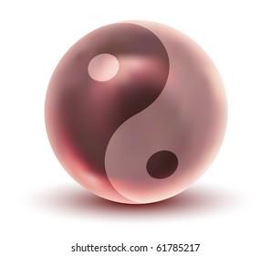 Vector Crystal Yin Yang Sphere