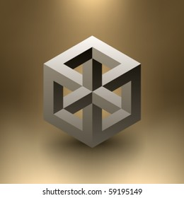 Vector Cube Illusion