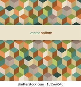 Vector cube retro pattern background