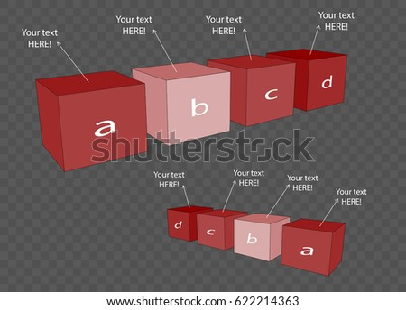vector cube template infographic web design stock vector royalty