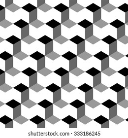 Vector cubes seamless pattern