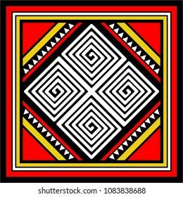 vector cultural toraja batik motive from south sulawesi, indonesia