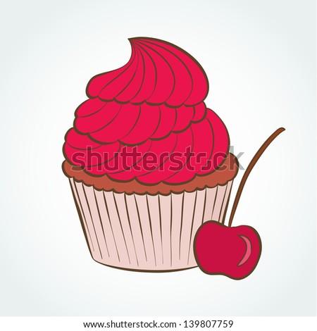 Vector Cupcake Design Template Stock Vector Royalty Free 139807759