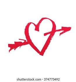 Vector Cupid's heart