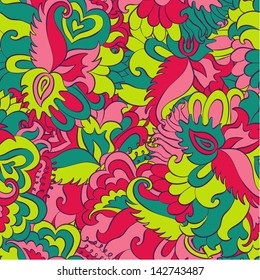 Vector curl seamless pattern
