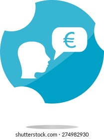 vector Currency exchange icons, euro money sign and people head