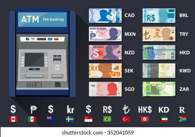 Vector currency set