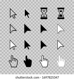 Vector Cursor Icons Set isolated on background.