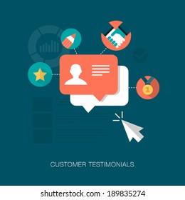 vector customer testimonials concept illustration