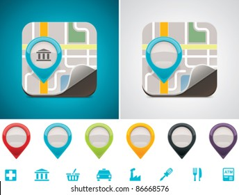 Vector customizable map location icon