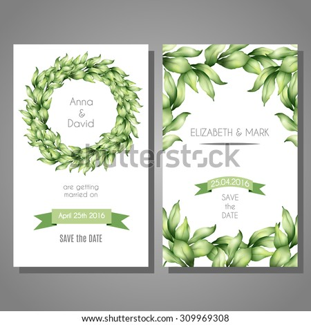 Vector Cute Cards Templates Set Hand Stock Vector Royalty Free
