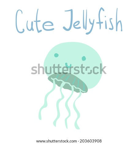 Vector Cute Cartoon Ocean Jellyfish Ui Stock Vector Royalty Free
